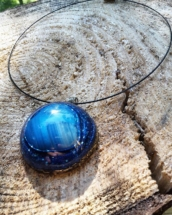 orgonit, modrý achát, orognitový šperk, sowulo, šperk, energie