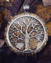 citrín, strom života,orognitový šperk, sowulo, orgonit, energie, šperk, orgone, orgonity