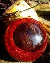 orognitový šperk, sowulo, orgonit, energie, šperk, orgone, orgonity,granat