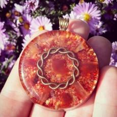 orognitový šperk, sowulo, orgonit, energie, šperk, orgone, orgonity, karneol