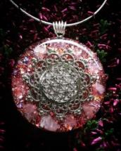 orognitový šperk, sowulo, orgonit, energie, šperk, orgone, orgonity, ruženín, květ života