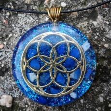 orognitový šperk, sowulo, orgonit, energie, šperk, orgone, orgonity,orgonit, semeno života, symbol, lapis lazuli