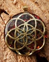 orognitový šperk, sowulo, orgonit, energie, šperk, orgone, orgonity,orgonit,semeno života, symbol, labradorit
