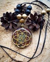 orgonit, orgonitový šperk, semeno života, energie, sowulo, talisman, labradorit, křiš´tál orgone