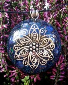 orgonit, orgonitový šperk, sri yantra, srí jantra, posvátná geometry, symbol, granát, energie, sowulo, šperky, náhrdelníky, alternativa, alternativní, léčivý, lapis lazuli