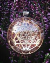 metaron, metatronova krychle, posvátná geometrie, růženín, orgonit, orgonity, oronitový šperk, anděl, archanděl, síla, léčivý šperk, sowulo