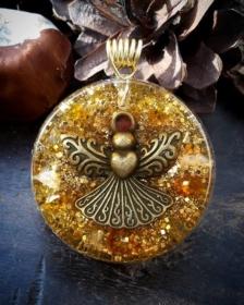 Orgonit, Orgonite, Orgone, orgonitový šperk, orgonitový přívěšek, strom života, orgonitový, posvátná geometrie, Tyrkys, květina života, čakry, energie, orgonite, semeno života, anděl, jantar