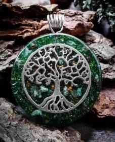 Orgonit, Orgonite, Orgone, orgonitový šperk, orgonitový přívěšek, strom života, orgonitový, posvátná geometrie, Tyrkys, květina života, čakry, energie, orgonite, semeno života, fuchsit, strom života