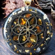 Orgonit, Horovo oko, Orgonite, Orgone, orgonitový šperk, orgonitový přívěšek, strom života, orgonitový, posvátná geometrie, Tyrkys, květina života, čakry, energie, orgonite, semeno života, jantar