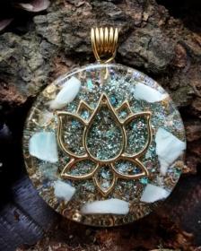 Orgonit, Orgonite, Orgone, orgonitový šperk, orgonitový přívěšek, strom života, orgonitový, posvátná geometrie, Tyrkys, květina života, čakry, energie, orgonite, semeno života, larimar, lotus