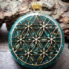 Orgonit, Horovo oko, Orgonite, Orgone, orgonitový šperk, orgonitový přívěšek, strom života, orgonitový, posvátná geometrie, Tyrkys, květina života, čakry, energie, orgonite