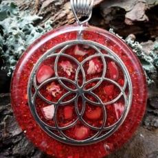 Orgonit, Horovo oko, Orgonite, Orgone, orgonitový šperk, orgonitový přívěšek, strom života, orgonitový, posvátná geometrie, Tyrkys, květina života, čakry, energie, orgonite, semeno života, korál
